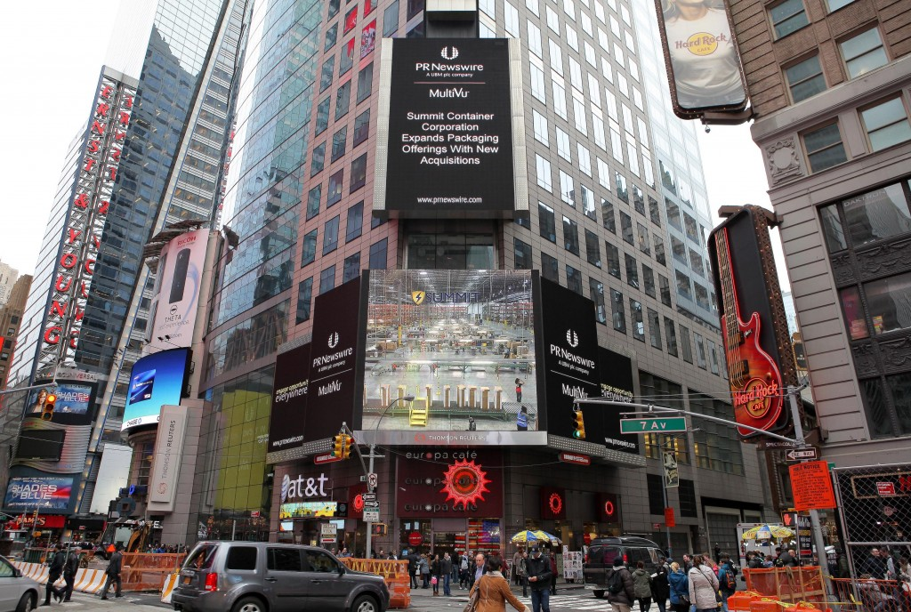 Summit Container Corporation in Times Square